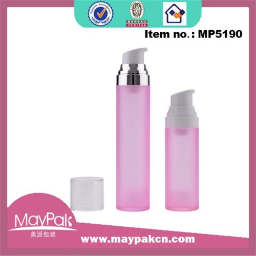 skin care empty plastic airless bottle