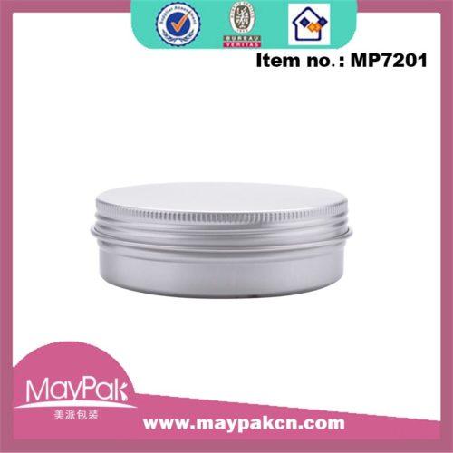 Aluminum cosmetic jar