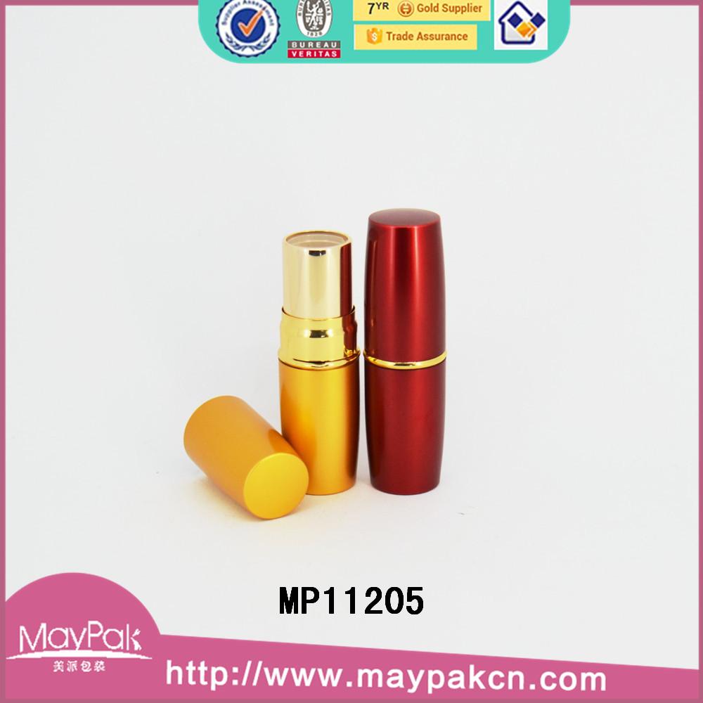 gold empty aluminum lipstick tube