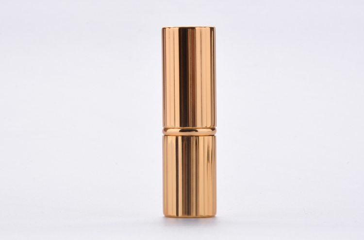 aluminum gold lipstick case