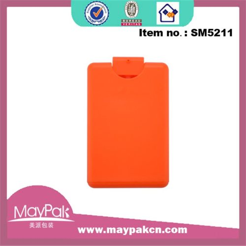 Plastic flat bottom credit card pocket sprayer