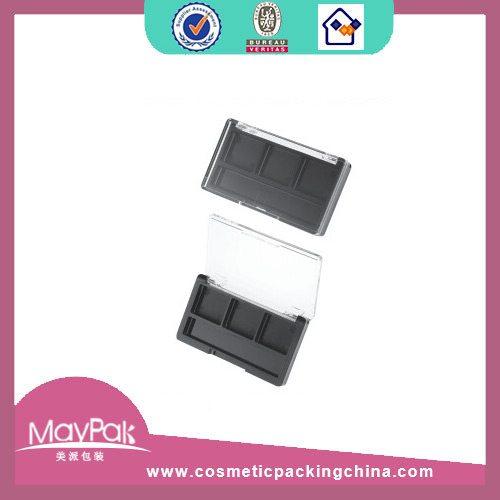 black empty eye shadow box