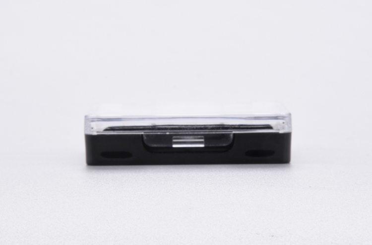 black empty plastic eye shadow case