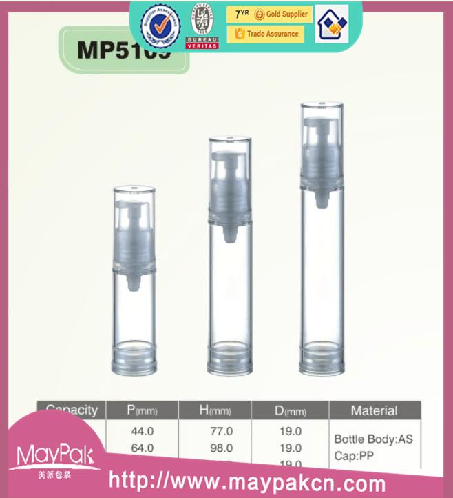 6ml plastic airless pump bottle