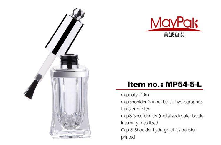 silvery nail polish bottle 10ml