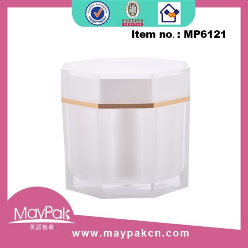 Plastic Octagon Cream Jar factory