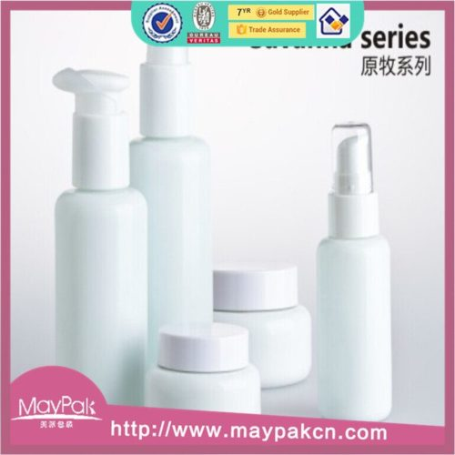 wholesale lotion cosmetic white porcelain bottle