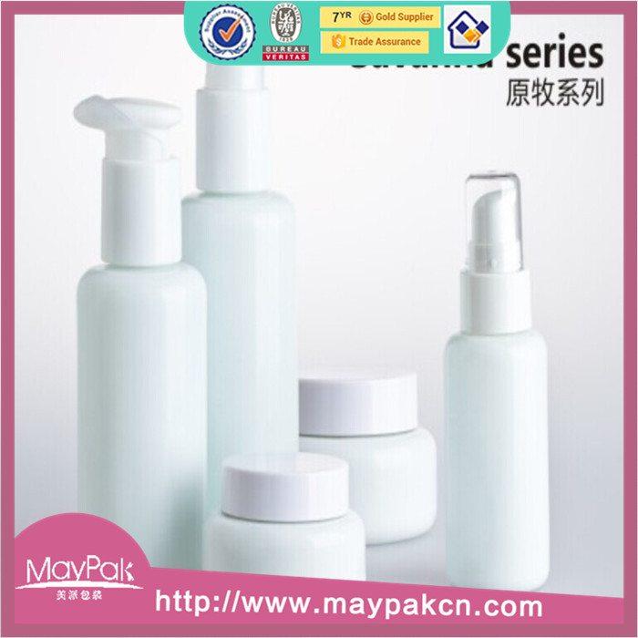 wholesale lotion cosmetic white porcelain bottle