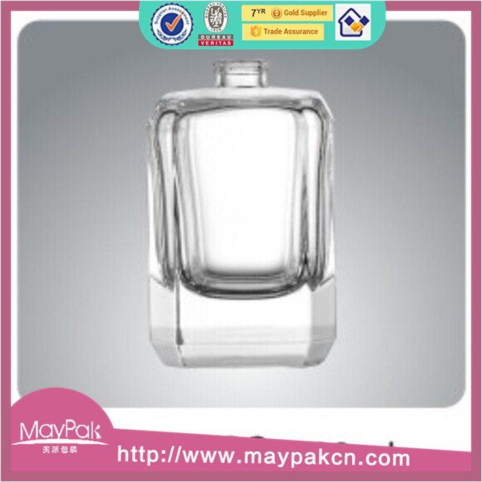 clear empty cosmetic glass bottle