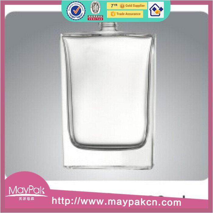 cosmetic clear empty glass perfume bottle