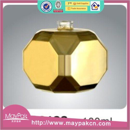 amber empty 100ml glass perfume bottle