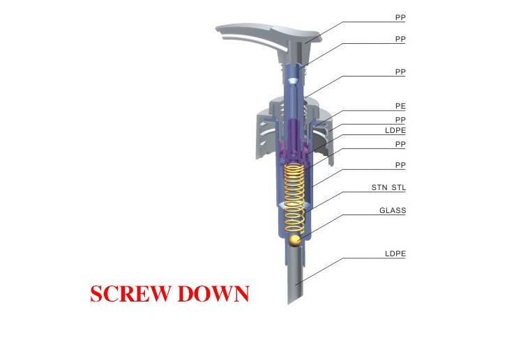 Ribbed Aluminum Cream Dispensers