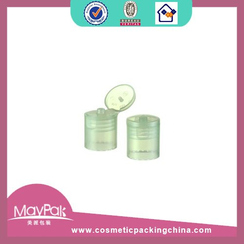 Transparent plastic bottle cap