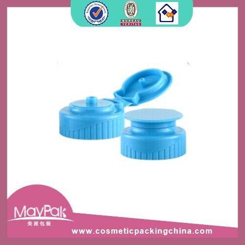 Plastic blue flip top cap