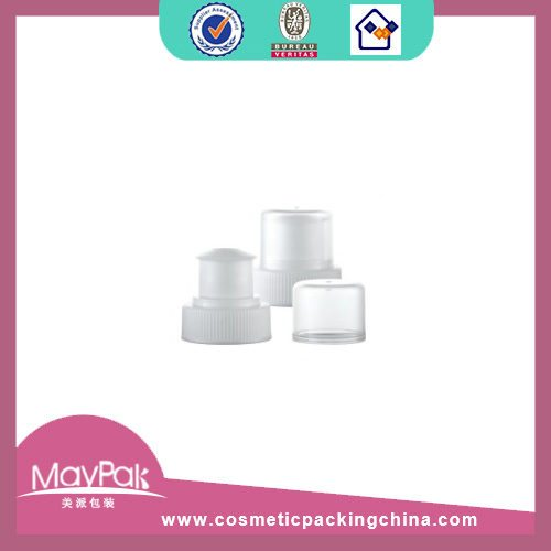 28mm Ribbed White Push Cap