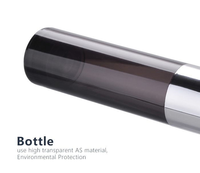 empty 15ml 30ml 50ml plastic airless bottle