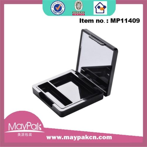 cosmetic packaging square empty eye shadow compact