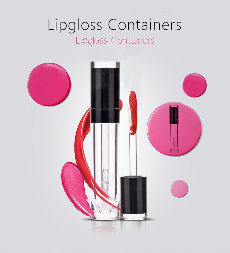 wholesale round empty lipgloss container