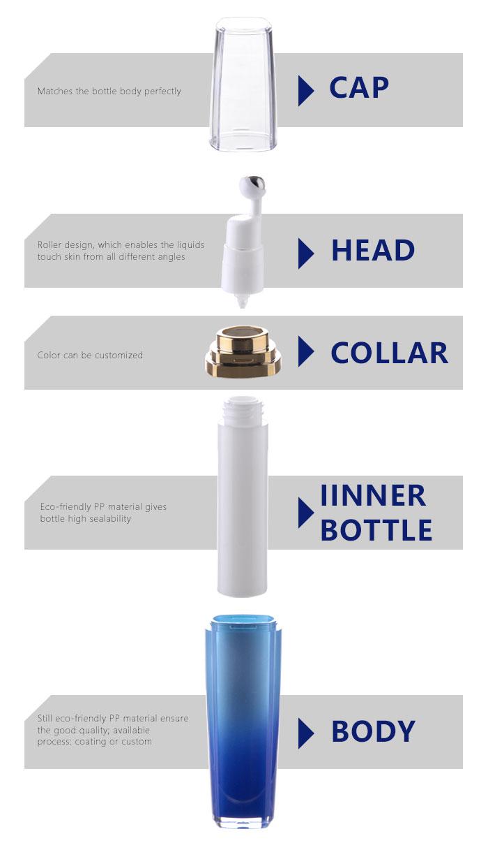 acrylic eye cream airless bottle factory