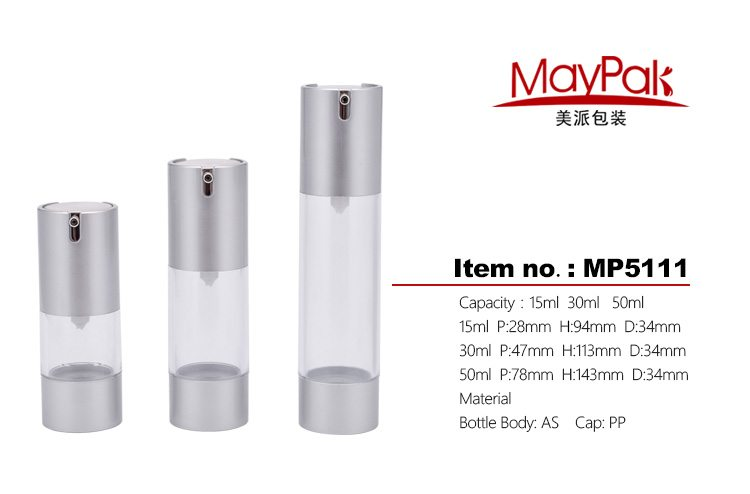 personal care cosmetic airless bottle
