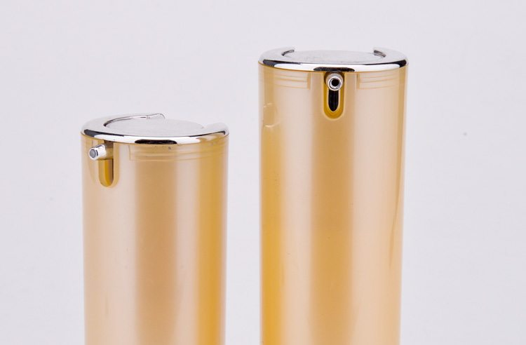cylinder plastic acrylic airless bottle