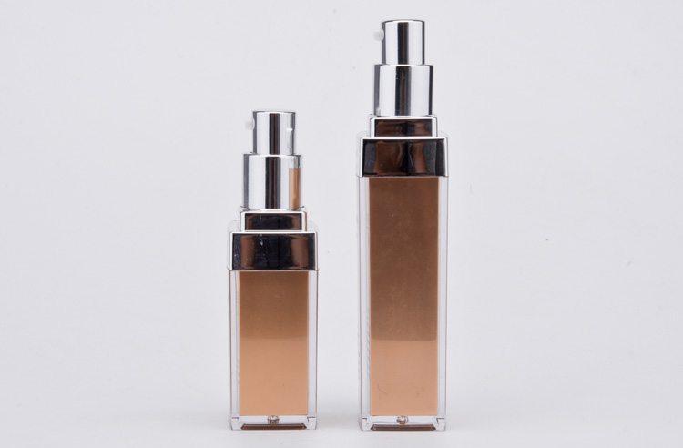 elegant square plastic lotion bottle