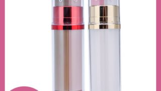 90ml double chamber cosmetic bottle