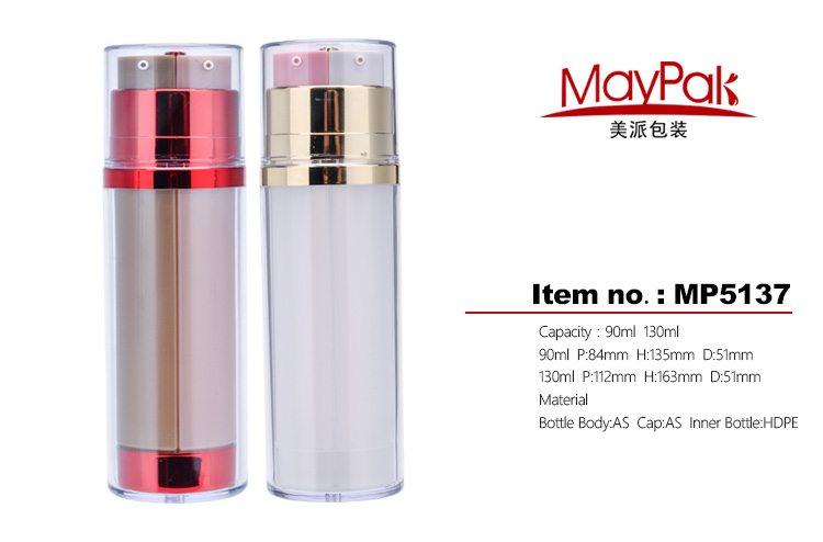 90ml double chamber cosmetic bottle