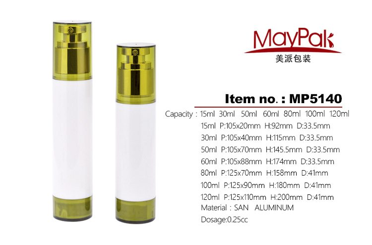 cosmetic airless bottles 30ml
