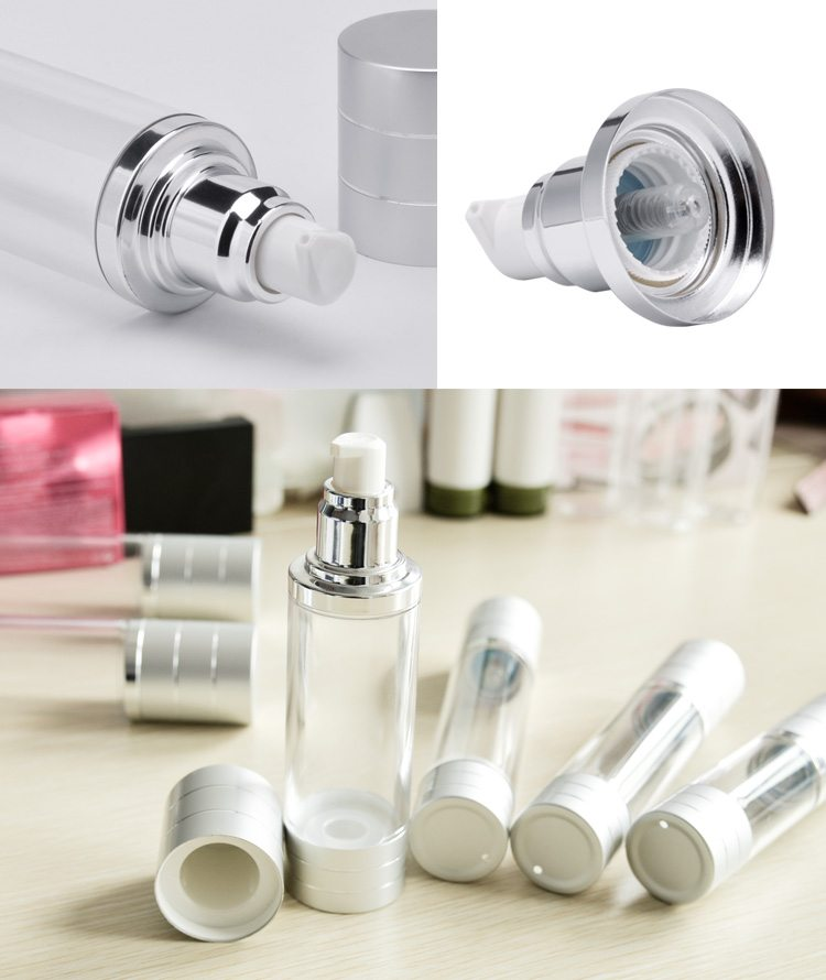 aluminum airless bottle for cosmetics