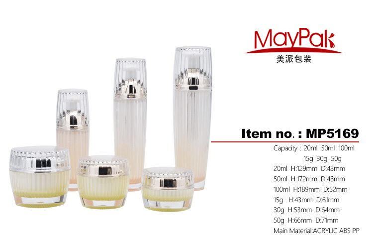 luxury acrylic double wall bottles