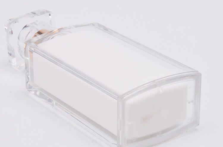 square unique shaped plastic lotion bottle
