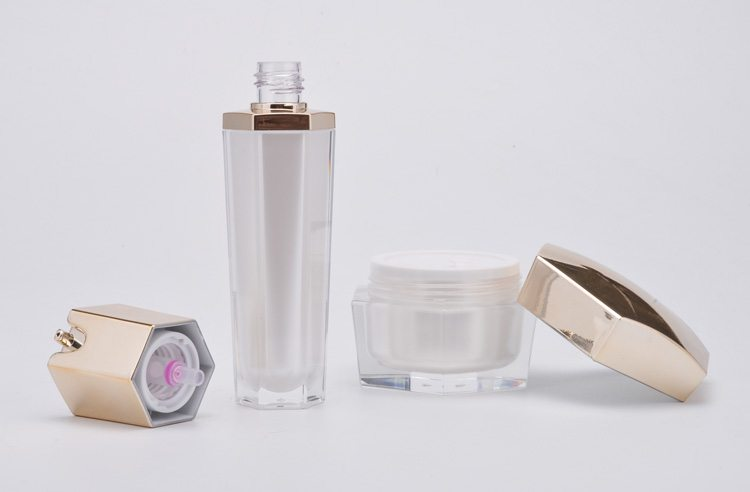 Irregular shape cosmetic bottle and jar