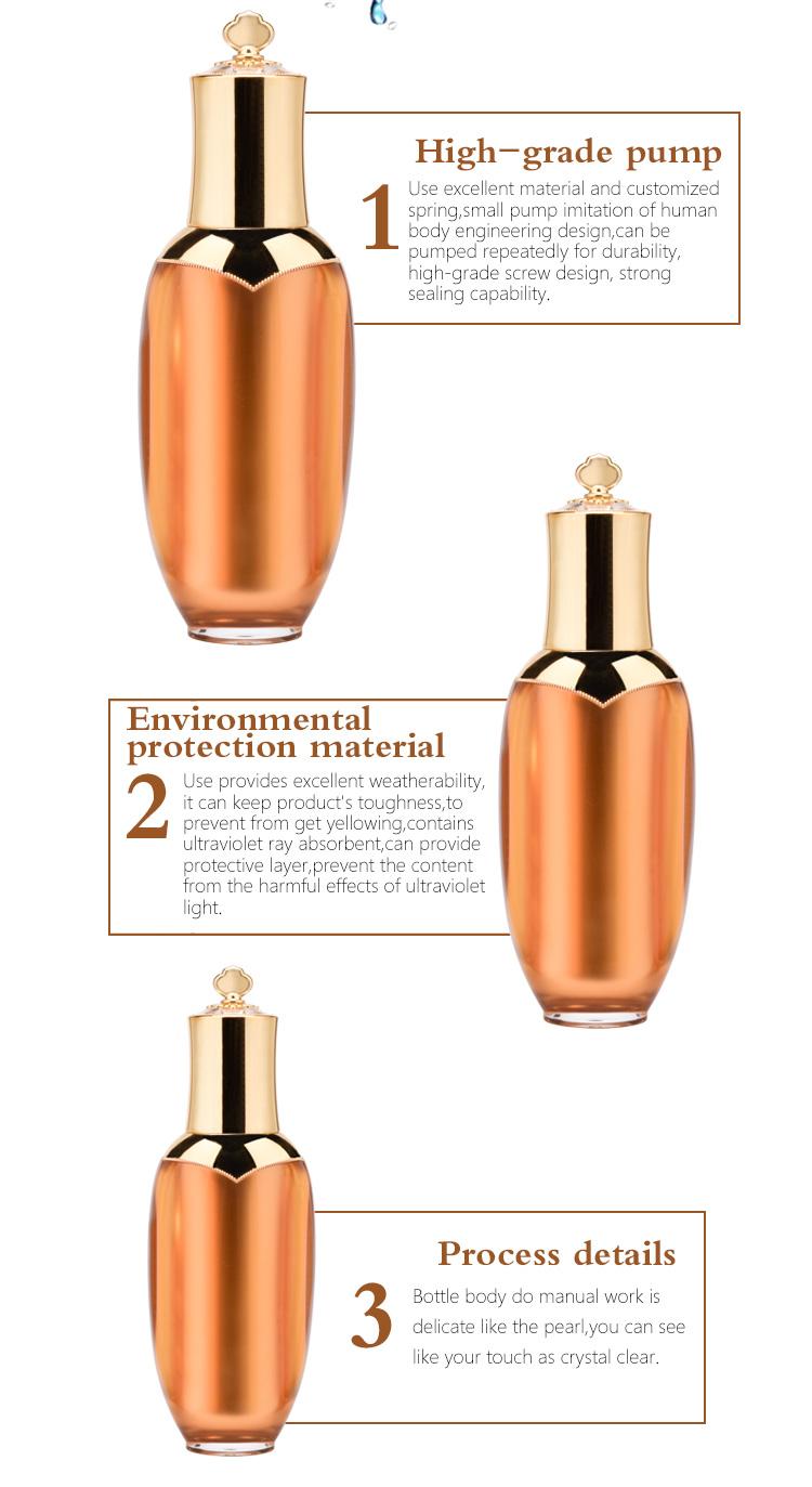 Elegant decorative lotion bottle
