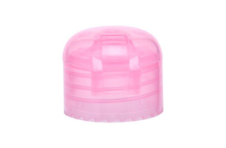 Transparent plastic bottle cap