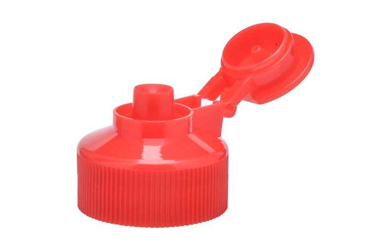 Red Ribbed plastic lid