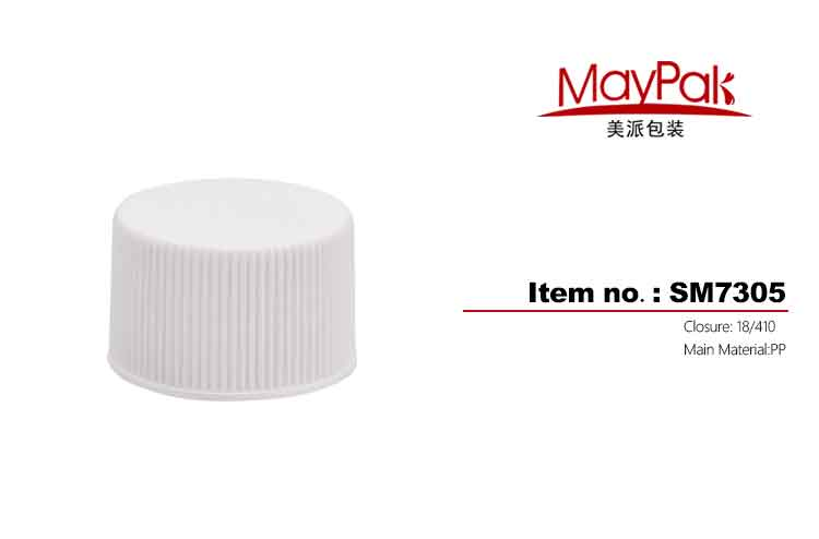 Ribbed transparent screw cap