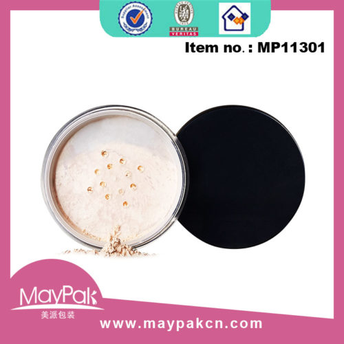 plastic cosmetic loose powder jar