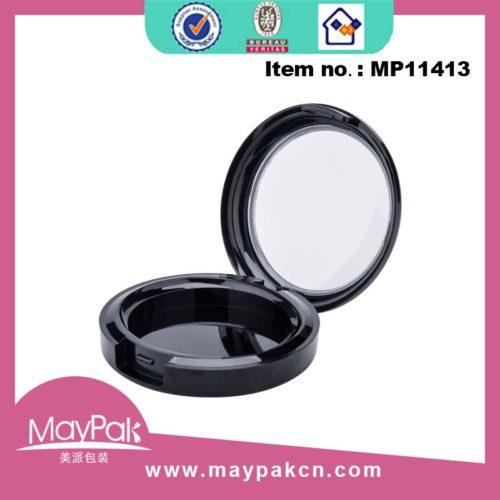 round plastic loose powder jar