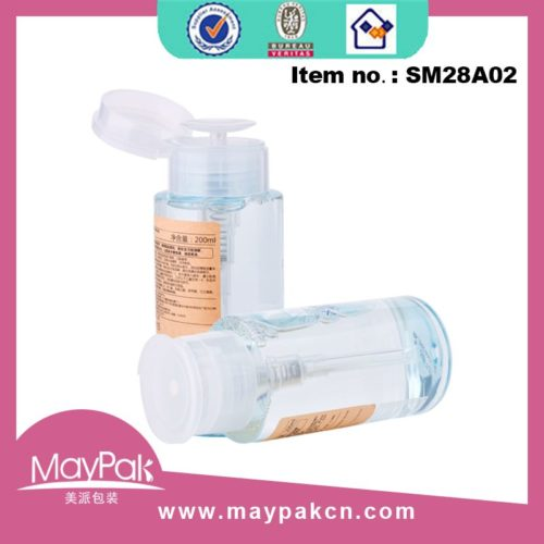 plastic makeup remover pump
