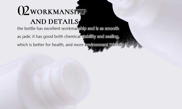 cosmetic empty opal glass bottle