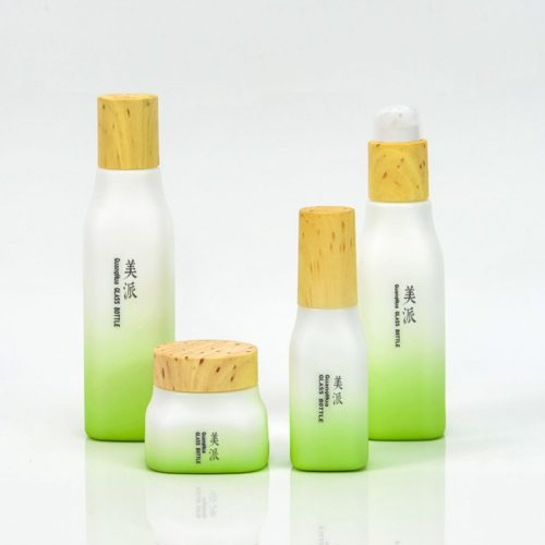 cosmetic empty opal glass bottle