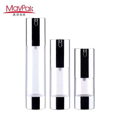 50ml plastic acrylic airless cosmetic bottle