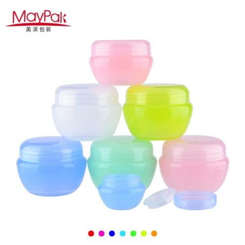 plastic PP colorful cream jar