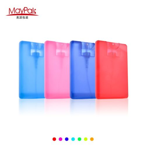 20ml plastic colorful credit card sprayer bottle porkets
