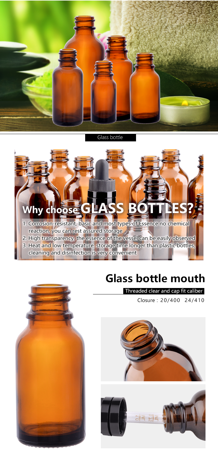 glass small essential oil bottle