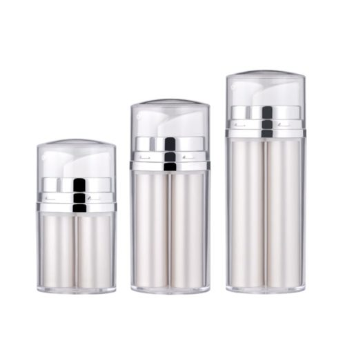 Two nozzles Plastic Cosmetic Airless Bottle