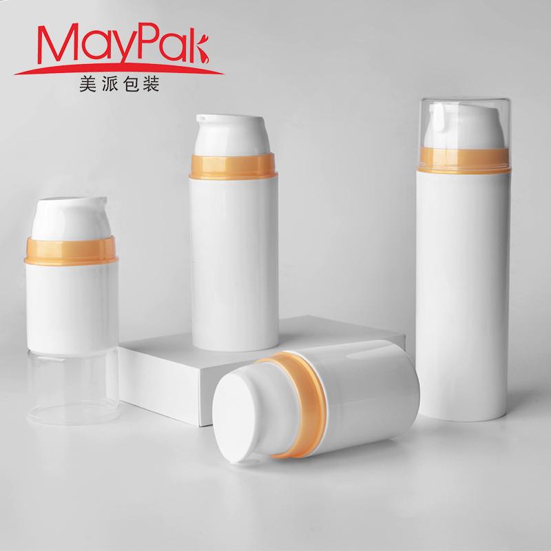 150ml white plastic airless bottle