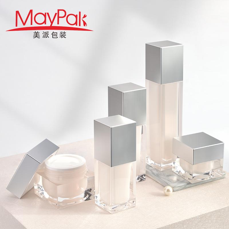 120ml empty square lotion bottle