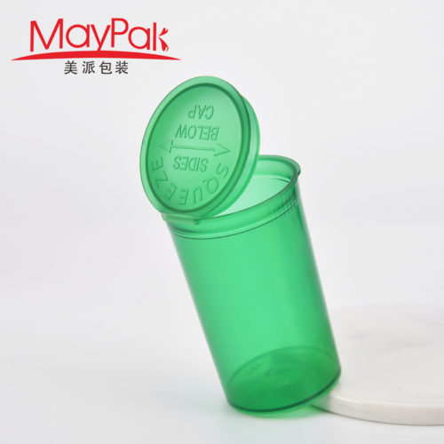 empty plastic pop top vial